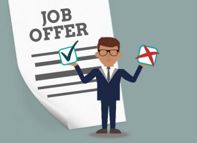 Wel of niet accepteren van een job offer